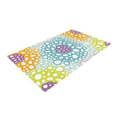 Emine Ortega Bubbly Blue/Yellow Area Rug Rug Size: 2 x 3