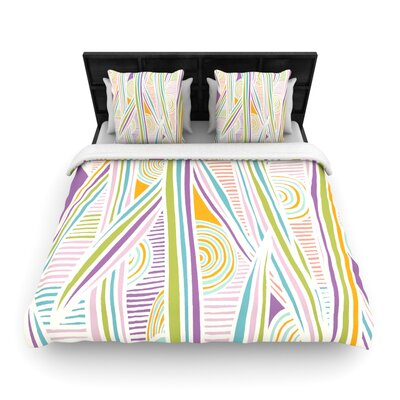 Graphique Duvet Color: Black, Size: Full/Queen, Fabric: Woven Polyester