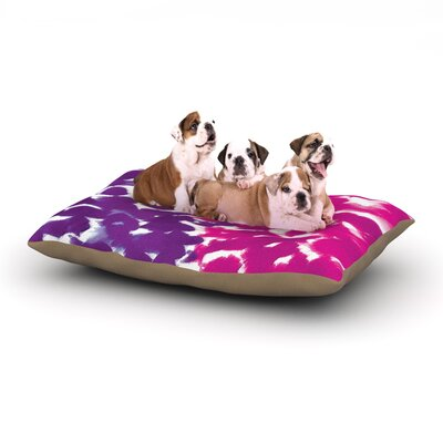 Emine Ortega Fleeting Dog Pillow with Fleece Cozy Top Size: Small (40 W x 30 D x 8 H), Color: Purple
