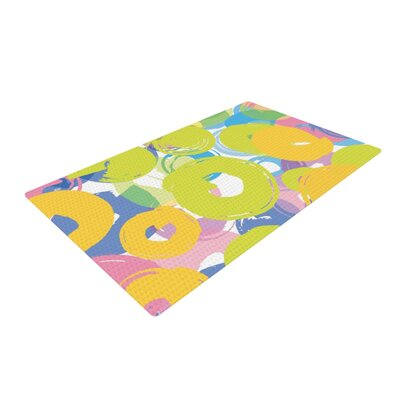 Emine Ortega Circle Me Yellow/Green Area Rug Rug Size: 2 x 3