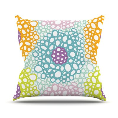 Bubbly by Emine Ortega Throw Pillow Size: 18 H x 18 W x 1 D