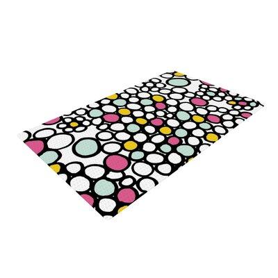 Emine Ortega Pebbles Black/Pink Area Rug Rug Size: 2 x 3