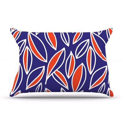 Emine Ortega Leaving Pillow Case Color: Orange