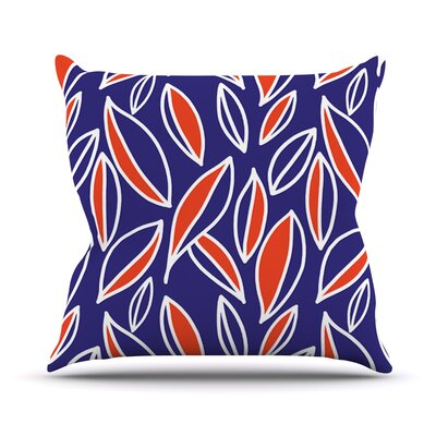 Leaving by Emine Ortega Throw Pillow Size: 26 H x 26 W x 1 D, Color: Orange