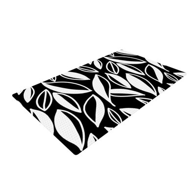 Emine Ortega Leaving Black/White Area Rug Rug Size: 2 x 3
