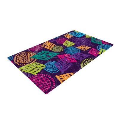 Emine Ortega African Beat Purple Area Rug Rug Size: 4 x 6