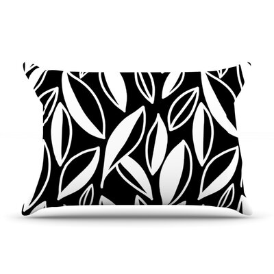 Emine Ortega Leaving Pillow Case Color: Black/White