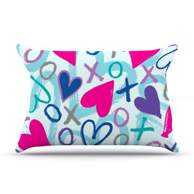 Hearts a Flutter by Emine Ortega Featherweight Pillow Sham Size: Queen, Fabric: Woven Polyester