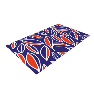 Emine Ortega Leaving Blue/Orange Area Rug Rug Size: 2 x 3