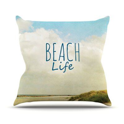 Beach Life by Iris Lehnhardt Beach Throw Pillow Size: 18 H x 18 W x 3 D