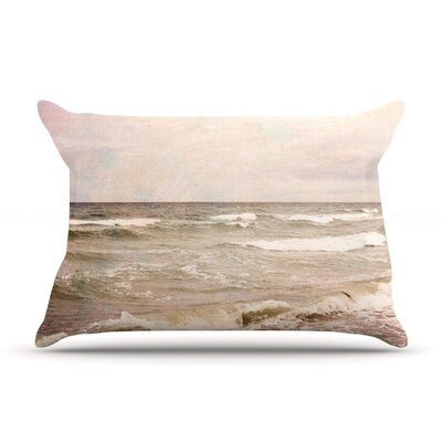 Romantic Sea by Iris Lehnhardt Featherweight Pillow Sham Size: Queen, Fabric: Woven Polyester
