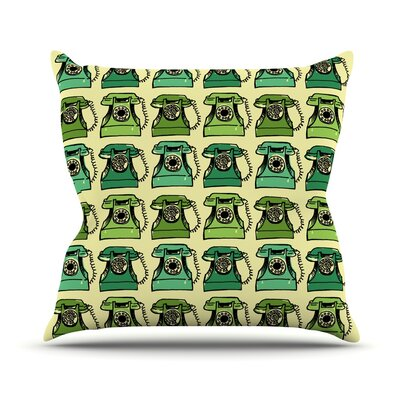 Grandmas Telephone by Holly Helgeson Throw Pillow Size: 20 H x 20 W x 4 D