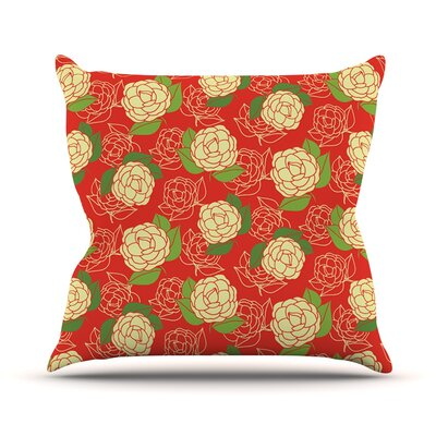 Cammelia by Holly Helgeson Throw Pillow Size: 18