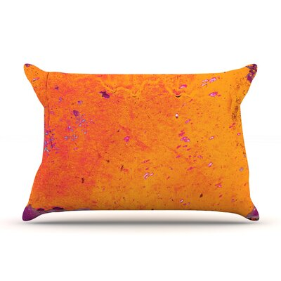 Orange Purple by Iris Lehnhardt Featherweight Pillow Sham Size: King, Fabric: Woven Polyester