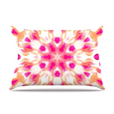 Batik Mandala by Iris Lehnhardt Featherweight Pillow Sham Size: King, Fabric: Woven Polyester