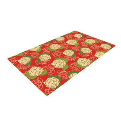 Holly Helgeson Cammelia Red/Yellow Area Rug Rug Size: 4 x 6