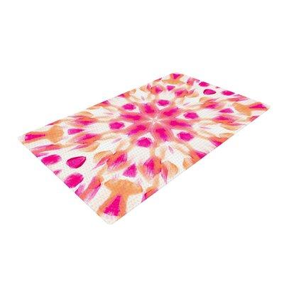 Iris Lehnhardt Batik Mandala White/Pink Area Rug