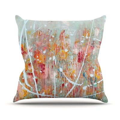 Joy by Iris Lehnhardt Splatter Paint Throw Pillow Size: 18 H x 18 W x 3 D