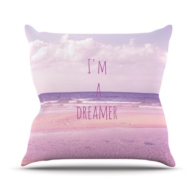 Im a Dreamer by Iris Lehnhardt Beach Throw Pillow Size: 20 H x 20 W x 4 D