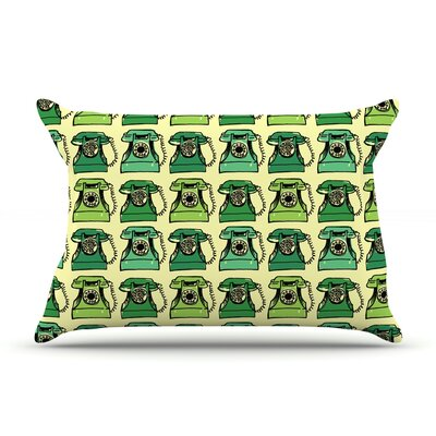 Vintage Telephone by Holly Helgeson Featherweight Pillow Sham Size: Queen, Fabric: Woven Polyester