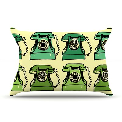 Grandmas Telephone by Holly Helgeson Featherweight Pillow Sham Size: King, Fabric: Woven Polyester