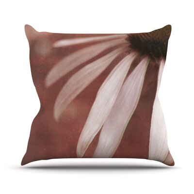 Copper and Pale by Iris Lehnhardt Flower Throw Pillow Size: 18 H x 18 W x 3 D