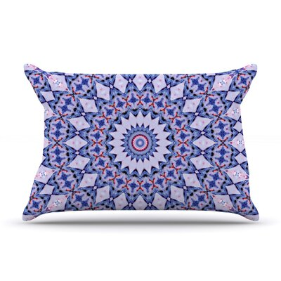Kaleidoscope Blue by Iris Lehnhardt Featherweight Pillow Sham Size: Queen, Fabric: Woven Polyester