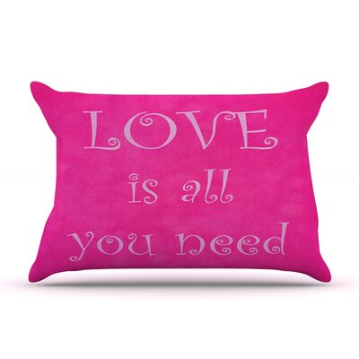 Love is all you need by Iris Lehnhardt Featherweight Pillow Sham Size: King, Fabric: Woven Polyester