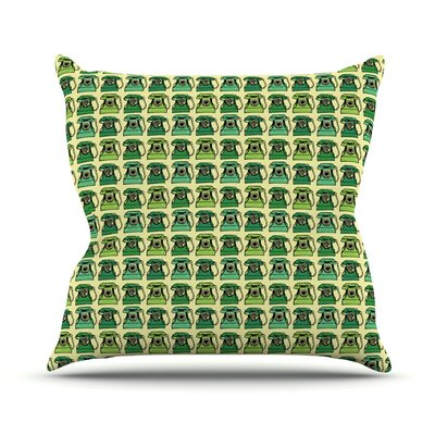 Vintage Telephone by Holly Helgeson Throw Pillow Size: 20 H x 20 W x 4 D