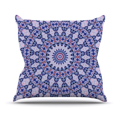 Kaleidoscope by Iris Lehnhardt Circle Throw Pillow Size: 16 H x 16 W x 3 D