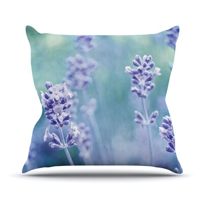 Lavender Dream by Iris Lehnhardt Flower Throw Pillow Size: 26 H x 26 W x 5 D