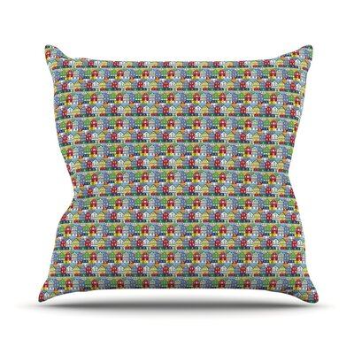 Reykjavik by Holly Helgeson Rainbow Throw Pillow Size: 16 H x 16 W x 3 D