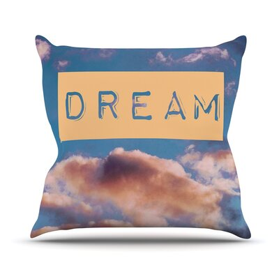 Dream by Iris Lehnhardt Clouds Throw Pillow Size: 26 H x 26 W x 5 D
