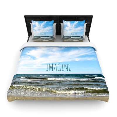 Imagine Beach Sky Woven Comforter Duvet Cover Size: King