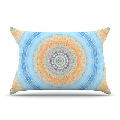Summer Mandala by Iris Lehnhardt Featherweight Pillow Sham Size: King, Fabric: Woven Polyester