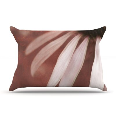 Copper and Pale Pink by Iris Lehnhardt Featherweight Pillow Sham Size: Queen, Fabric: Woven Polyester
