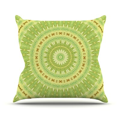 Wheel of Spring by Iris Lehnhardt Throw Pillow Size: 16 H x 16 W x 3 D