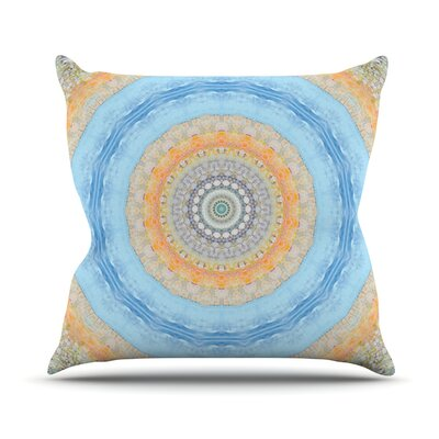 Summer Mandala by Iris Lehnhardt Throw Pillow Size: 26 H x 26 W x 5 D