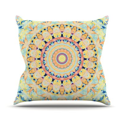 Flourish by Iris Lehnhardt Throw Pillow Size: 26 H x 26 W x 5 D