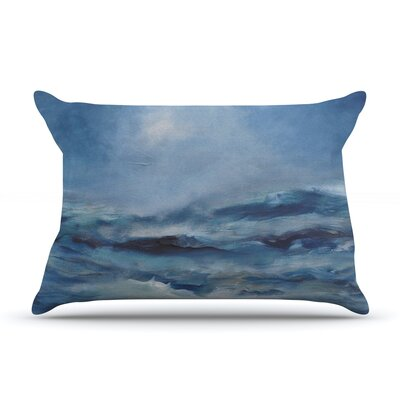 Rough Sea by Iris Lehnhardt Featherweight Pillow Sham Size: Queen, Fabric: Woven Polyester