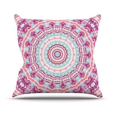 Happy by Iris Lehnhardt Throw Pillow Size: 26 H x 26 W x 5 D