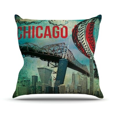 Chicago Outdoor Throw Pillow Size: 26
