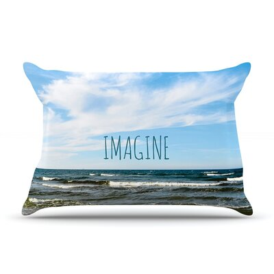 Imagine by Iris Lehnhardt Featherweight Pillow Sham Size: Queen, Fabric: Woven Polyester
