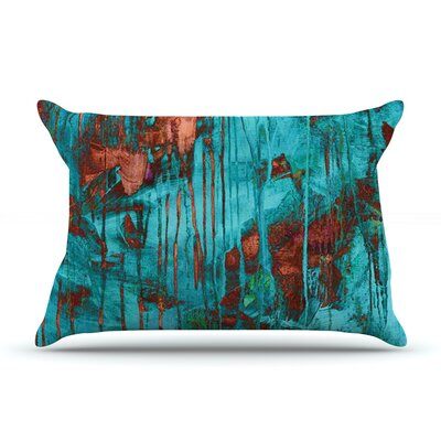 Rusty Teal by Iris Lehnhardt Featherweight Pillow Sham Size: Queen, Fabric: Woven Polyester