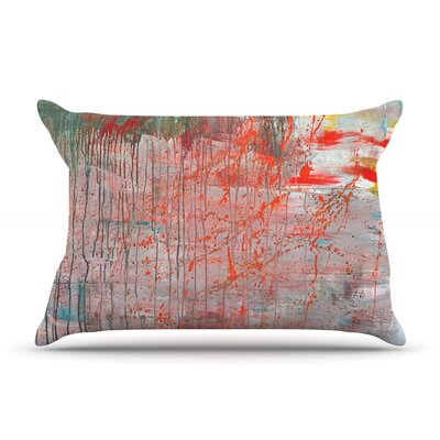 Mots de La Terre by Iris Lehnhardt Featherweight Pillow Sham Size: King, Fabric: Woven Polyester