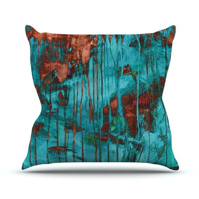 Rusty by Iris Lehnhardt Paint Throw Pillow Size: 18 H x 18 W x 3 D