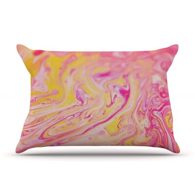 Bubble Gum Pink by Ingrid Beddoes Featherweight Pillow Sham Size: King, Fabric: Woven Polyester