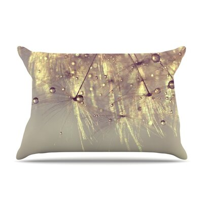 Sparkles of Gold by Ingrid Beddoes Featherweight Pillow Sham Size: Queen, Fabric: Woven Polyester