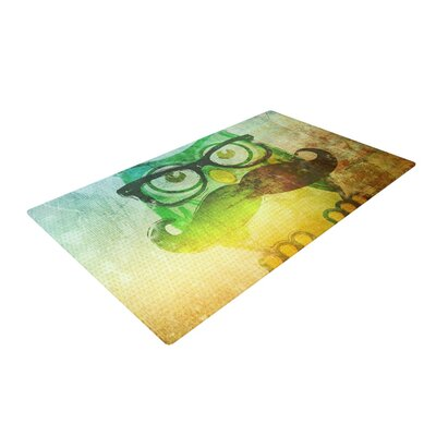 Howly Yellow Area Rug Rug Size: 2 x 3