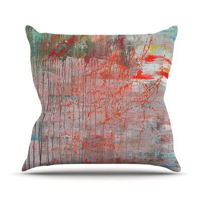 Mots de La Terre by Iris Lehnhardt Splatter Paint Throw Pillow Size: 18 H x 18 W x 3 D